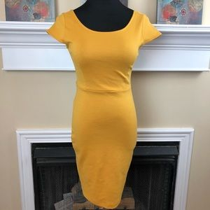 Forever 21 yellow bodycon dress